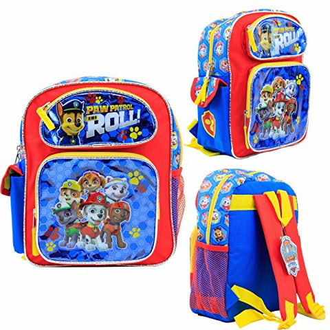 "Nickelodeon Paw Patrol Kids 12"" Toddler School Backpack Canvas Book Bag New USA Seller #3"
