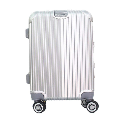 Boarding Suitcase, Wear-Resistant Trolley Case 20 Inch 24 Inch Zipper Suitcase, Checked Suitcase, Black, 24""