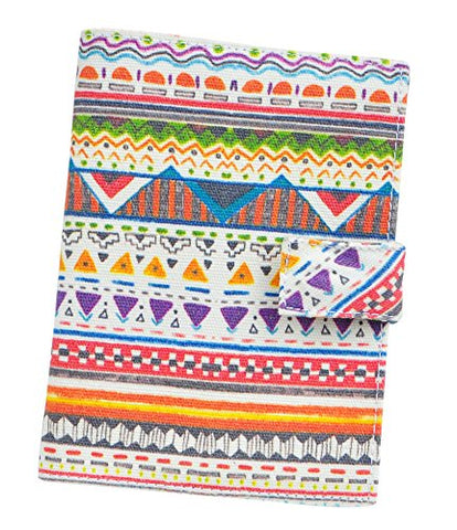 Aztec Patterns 23 Aztec Patterns Canvas Passport Holder Protect Cover Case