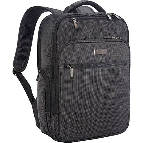 "Kenneth Cole Reaction Brooklyn Commuter 16"" Backpack Pink Dot Charcoal One Size"