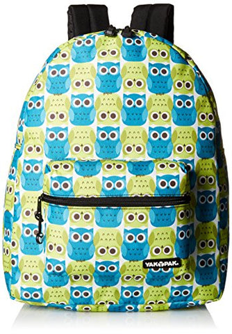 Yak Pak Nyc Classic Back Pack, Owl Love Green, One Size
