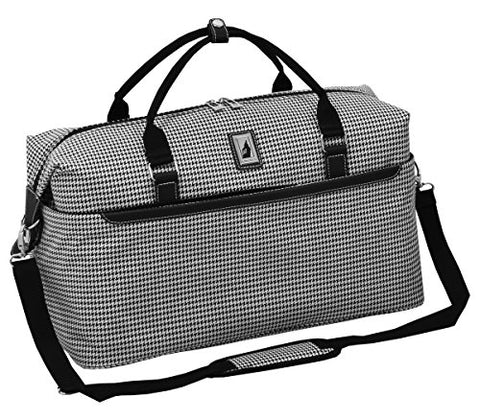 "London Fog Cambridge Ii 20"" Duffle, Black White Houndstooth"