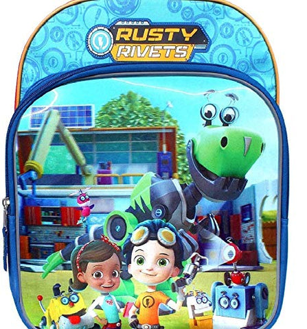 Rusty Rivets Yard of Gadgets Backpack for Boys 15