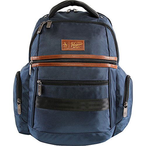 ORIGINAL PENGUIN Classics fits Most 15-inch Laptop and Notebook Backpack, Navy, One Size