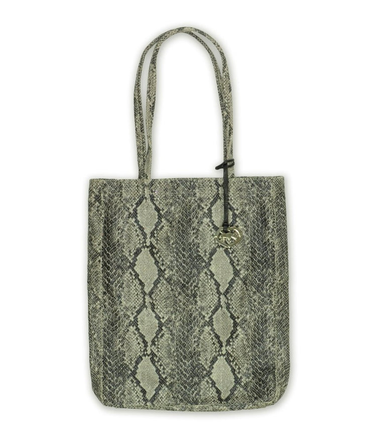 Ecko Unltd. Womens Charmer Tote Handbag Purse, Grey, Small (17 in. - 22 in.)