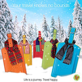Luggage Tags for Travel. Set of 2. Bright & Unique. Colorful Blue. For Sports Bag ID