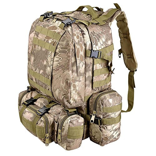 "Aw Wild Pythons Grain Waterproof Camping Bag 23X19X5.5"" Backpack For Travel Hike Camp Climb"