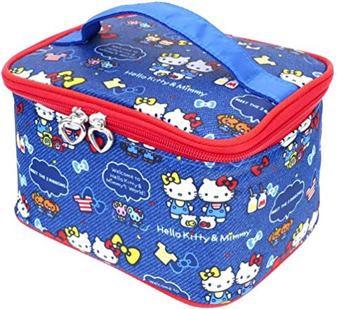 Hello Kitty Makeup Train Case Cosmetic Bag Holder Travel Organizer Water-Resistant Portable