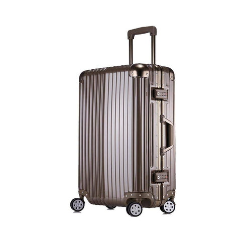 Trolley Suitcase, Caster Suitcase Trolley Suitcase, Retractable Suitcase, Hard-Shell Suitcase With Tsa Lock And 4 Casters, Titanium, 22 inch