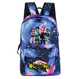 Qushy My Hero Academia Backpack School Bag Starry Sky Kid Adult Bookbag Daypack
