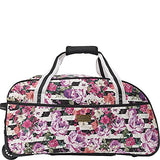 MacBeth Women's Office 21.5in Bag Rolling Duffel, White, One Size