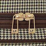 "London Fog Cambridge Ii 20"" Expandable Spinner, Olive Houndstooth"