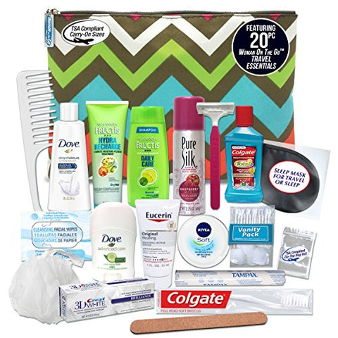 Convenience Kits Women's Premium 20-piece Necessities Travel Kit