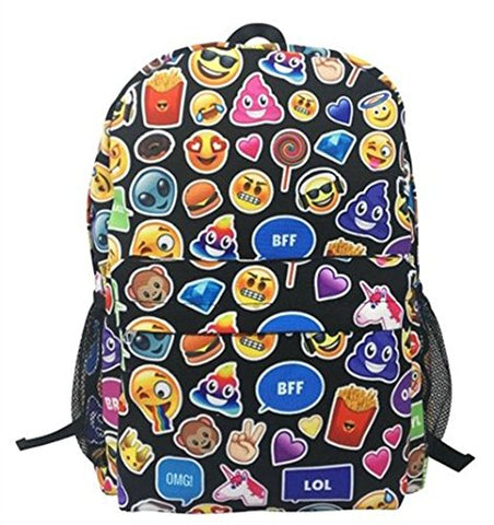 Top Trenz Emoji Backpack-Bff, Omg, Lol