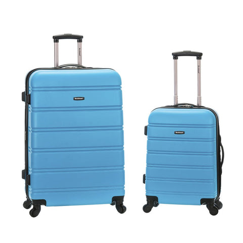 Rockland 20 Inch 28 Inch 2 Piece Expandable Abs Spinner Set, TURQUOISE