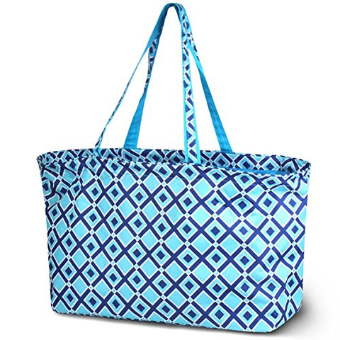 Zodaca All Purpose Large Utility Bag, Times Square Turquoise