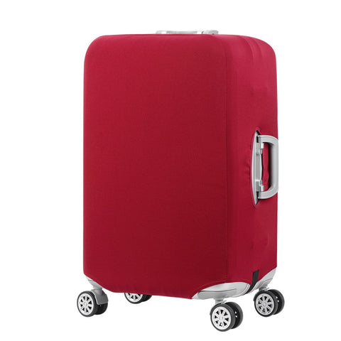Travel Luggage Cover Suitcase Protector Fits 18-32 Inch Trolley Luggage Cover (Wine red, S)