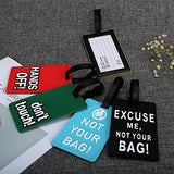CY BAG Luggage Tags,5 Pc Silicone Cartoon Letters Design Luggage Bag Tag Set