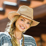 Hailey - Raffia Cowboy Hat By Wallaroo Hat Company