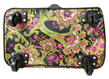 Computer/Laptop Rolling Bag 4 Wheel Case Paisley Green