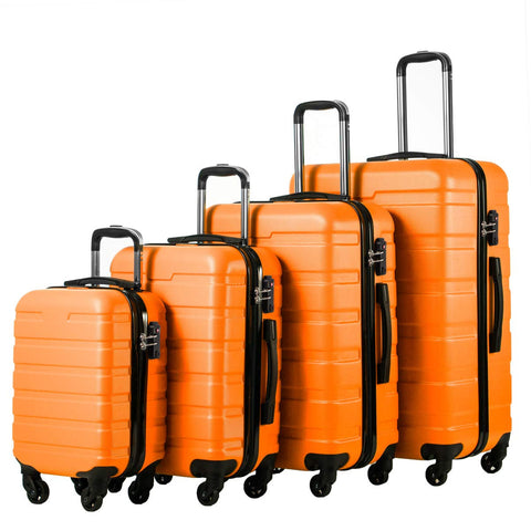 COOLIFE Luggage 4 Piece Set Suitcase Spinner Hardshell Lightweight TSA Lock