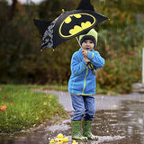 DC Comics Boys' Little Batman 'Squeeze and Flap' Fun Rainwear Umbrella, black, Age 3-7