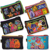 Laurel Burch Dog Tales Cosmetic Bag (Turquoise)