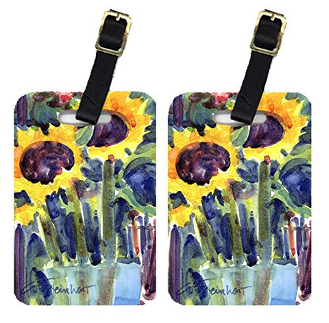 Carolines Treasures 6049Bt Flowers - Sunflower Luggage Tag - Pair 2, 4 X 2.75 In.