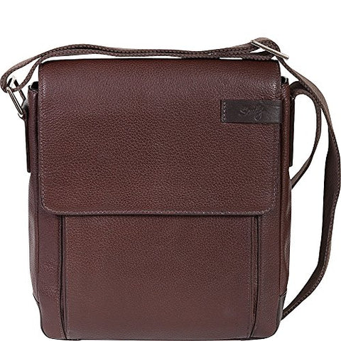 Scully Sierra Leather Shoulder Tote Workbag (Brown)