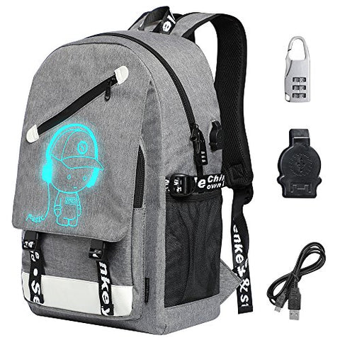 School Backpack, Boys Girls Unisex Oxford Laptop Backpack School Bag
