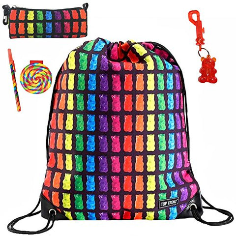 Gummy Bears Sling Bag, Pencil Holder, Keychain Notepad & Pen Multi-Pack Gift Set