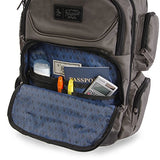 ORIGINAL PENGUIN Odell 9 Pocket Laptop/Tablet Backpack Briefcase, Charcoal, One Size