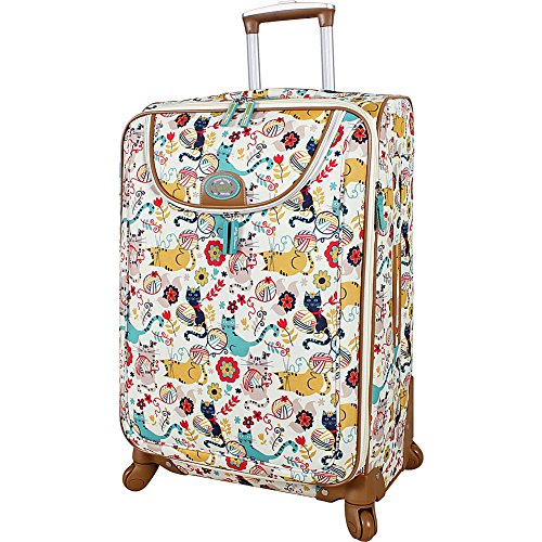 Lily Bloom Luggage Large Expandable Design Pattern Suitcase With Spinner Wheels For Woman (Aquarium Life, 28in) | Suitcases