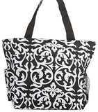 Large Multi - Pocket Fashion Zipper Top Organizing Beach Bag Tote - Custom Embroidery Available