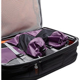 eBags Shoe Sleeves with Drawstring - For Travel - Set of 2 - (Eggplant)
