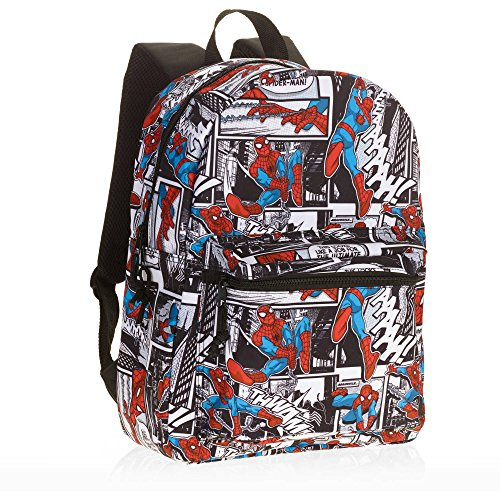 Spider-man Comic Print 16 Standard Size Backpack