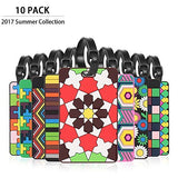 Cool Luggage, Merrynine Personalized Bright Color Mosaic Pattern Durable Travel Id Holder For