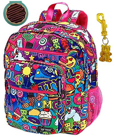 Emoji Cartoon Awesomesauce Large Backpack, Notepad & Keychain Multi-Pack