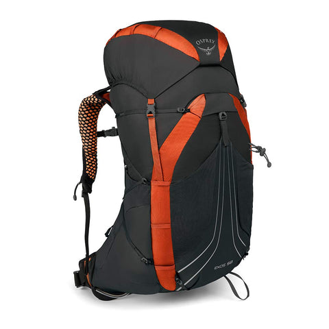 Osprey Packs Exos 58 Backpacking Pack, Blaze Black, Large
