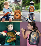 "Bigcardesigns Fashion Leopard 12"" Toddler Backpack"