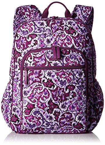 Vera Bradley Women's Campus Tech Backpack-Signature, Lilac Paisley