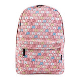 Damara Elephants Print Pink Backpack