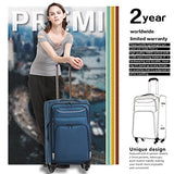 Coolife Luggage 3 Piece Set Suitcase Spinner Softshell Lightweight