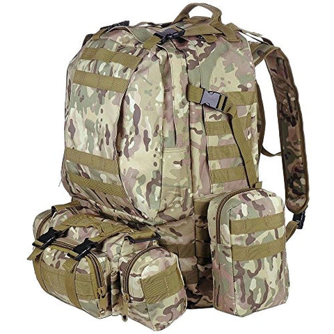 GHP 600D Oxford 420D Nylon Military Camouflage Molle Design Outdoor Camping Backpack