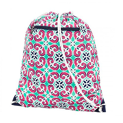 Fashion Print Backpack Style Gym Bag - Personalization Available (Mia Tile -Blank)