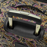 "London Fog Cranford 20"" Expandable Carry-on Spinner, Black Gold Plum Paisley"