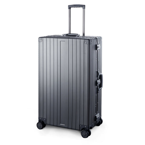 "TRAVELKING Multi-size All Aluminum Hard Shell Luggage Case Carry On Spinner Suitcase (20""-28"") (Grey, 28"")"