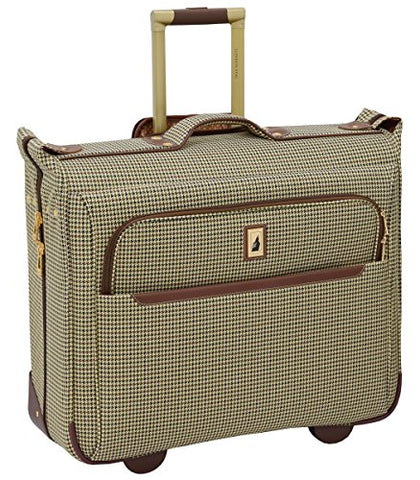 "London Fog Cambridge Ii 44"" Wheeled Garment Bag, Olive Houndstooth"