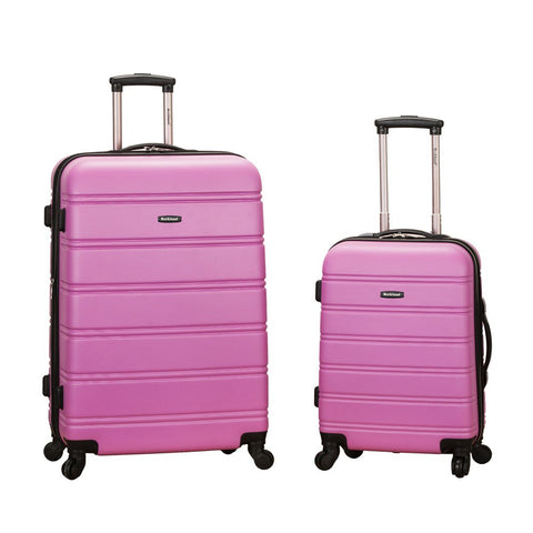 Rockland 20 Inch 28 Inch 2 Piece Expandable Abs Spinner Set, PINK