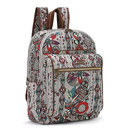 Sakroots Women's Artist Circle Cargo Backpack Charcoal Spirit Desert Backpack